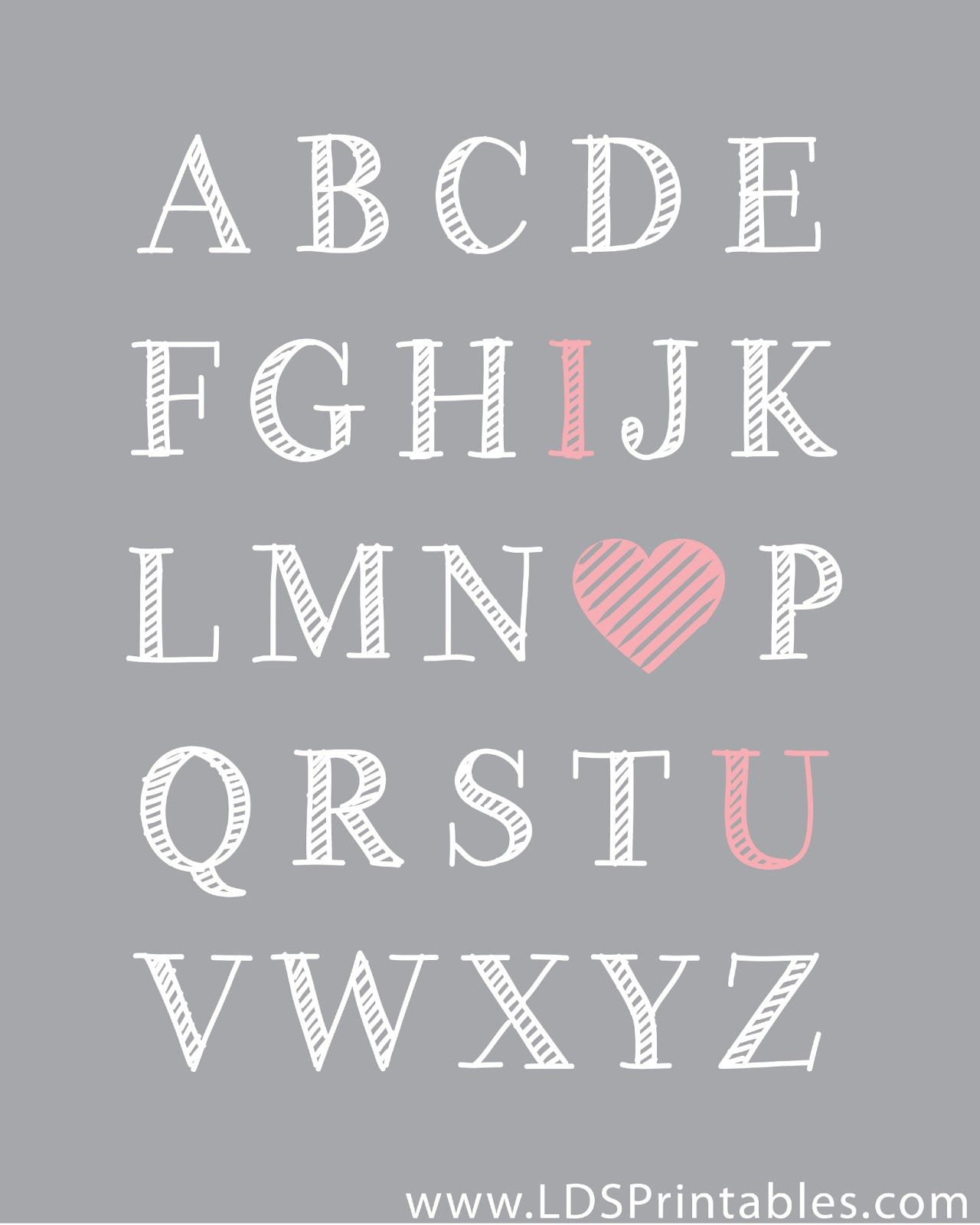 Lds Printables Abc S And 123 S