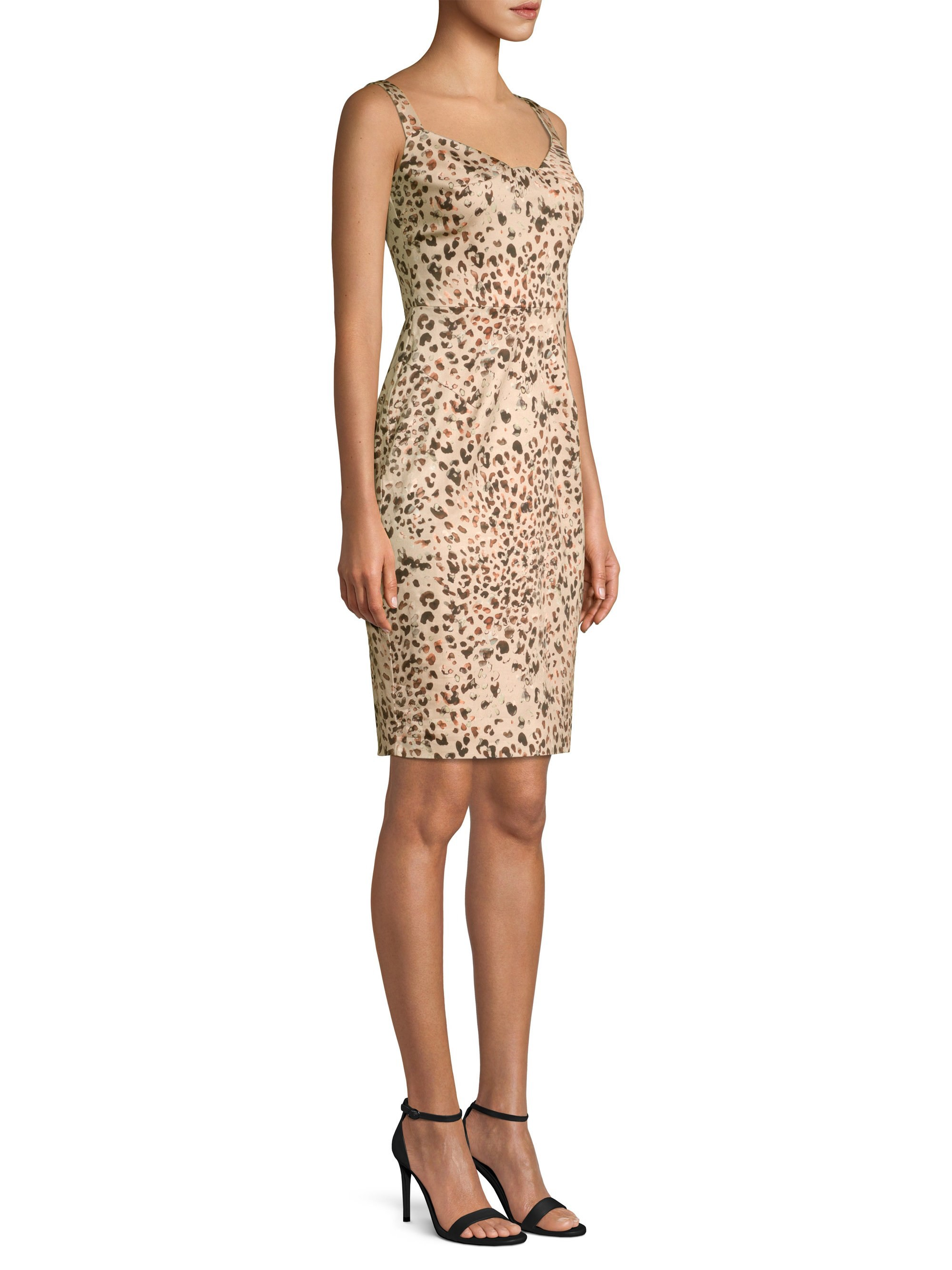 41cb0e44c2 Vista Leopard Print Sheath Dress by Black Halo in 2018