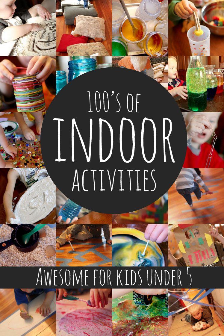 Hundreds of Indoor Activities for Kids Under 5 Fun