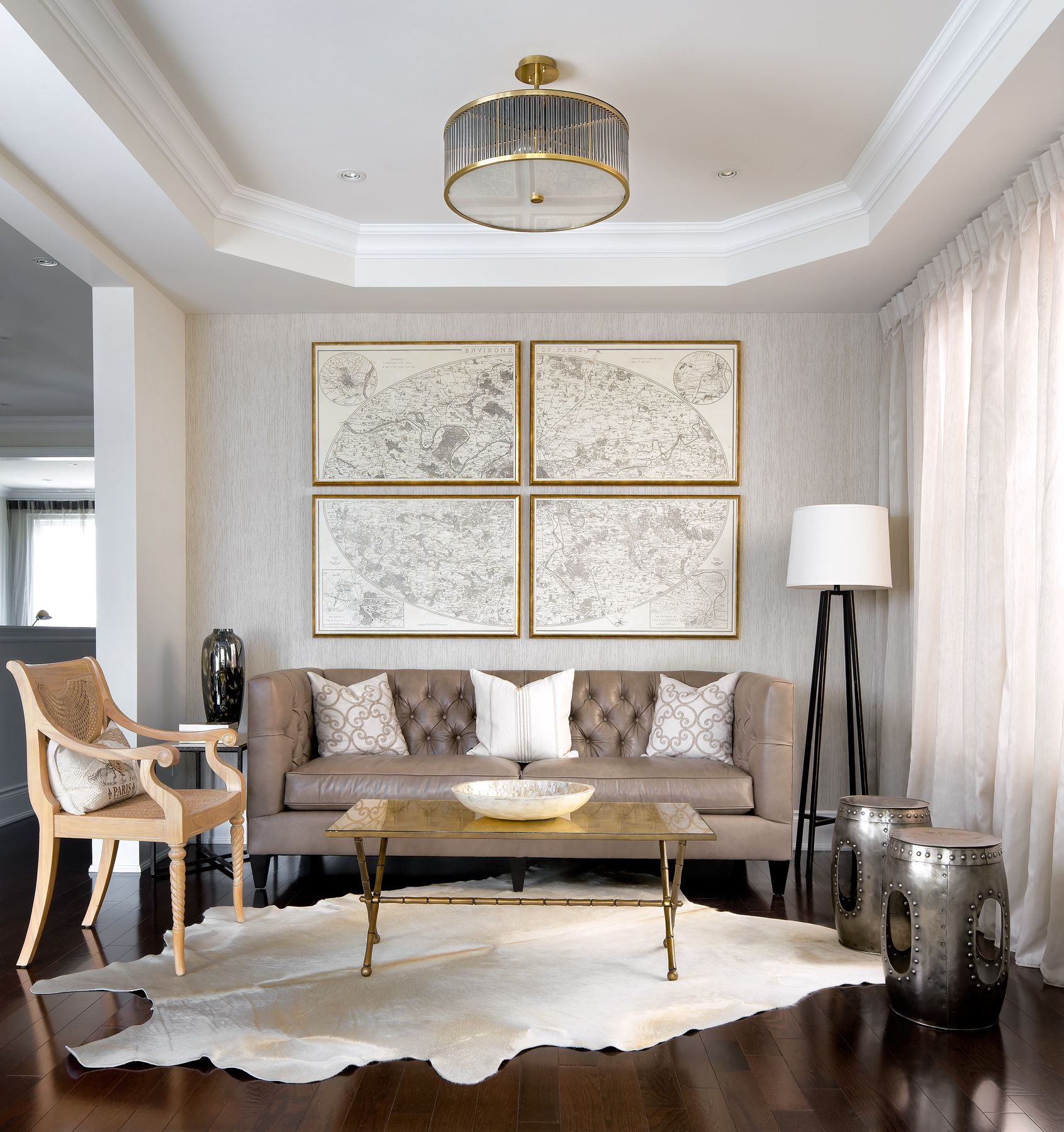 Living room project designed by Toronto Interior Design Group