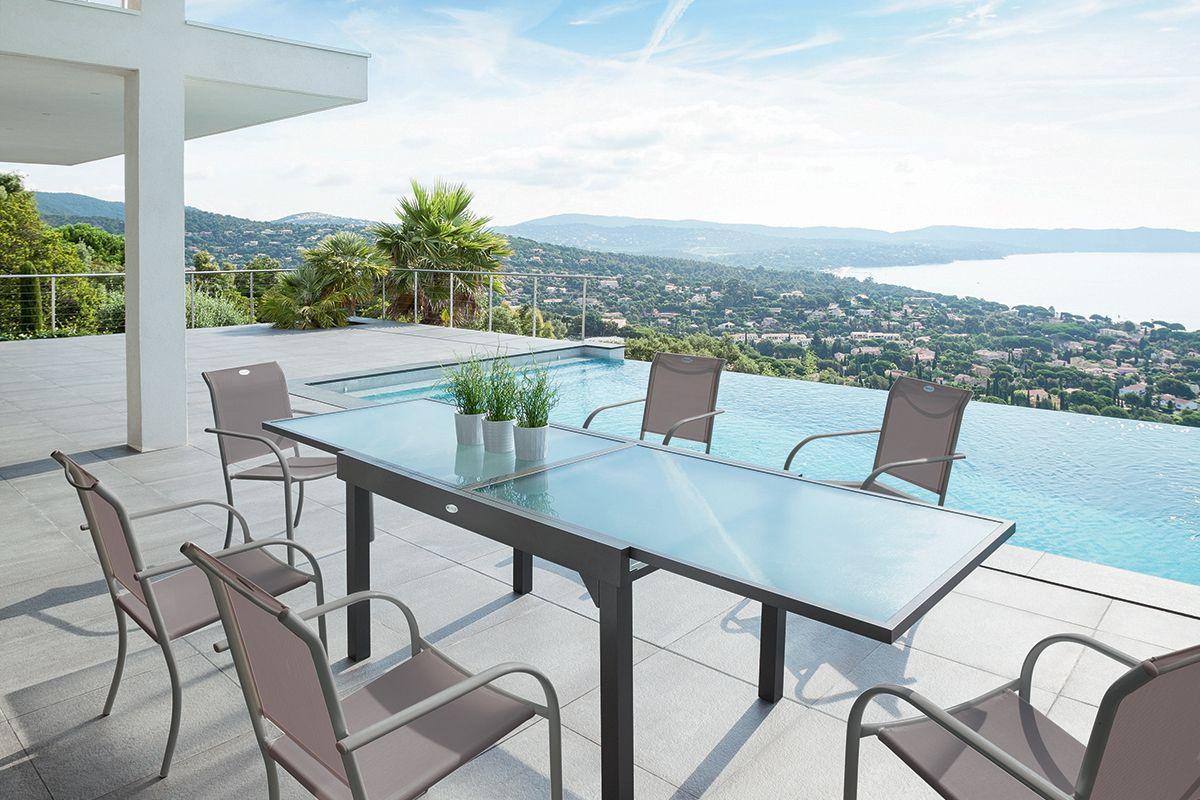 Table extensible Chaweng - HESPERIDE.fr | Salon de Jardin ...