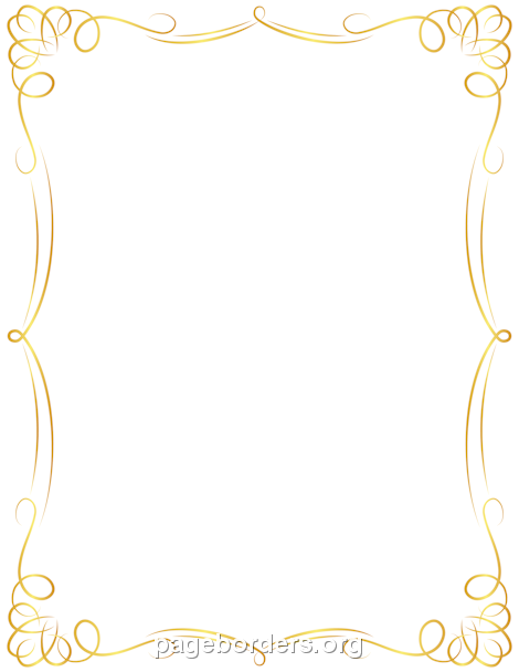 Printable Golden Border. Use The Border In Microsoft Word Or Other Programs  For Creating Flyers  Microsoft Word Page Border Templates
