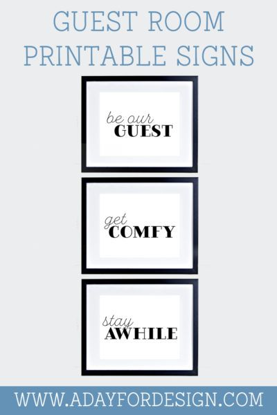 guest room printable signs be our guest get comfy and stay awhile rh pinterest com