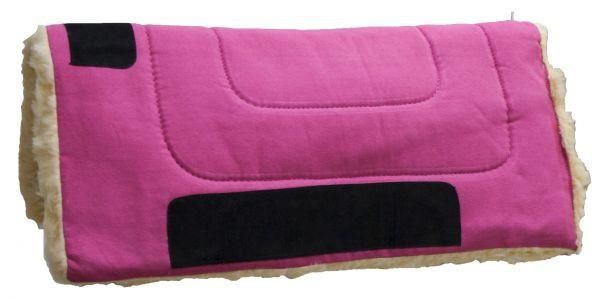 """Black Showman™ 32"""" x 32"""" Heavy Canvas """"Work"""" top pad features Kodel fleece bottom with suede leather wear leathers"""