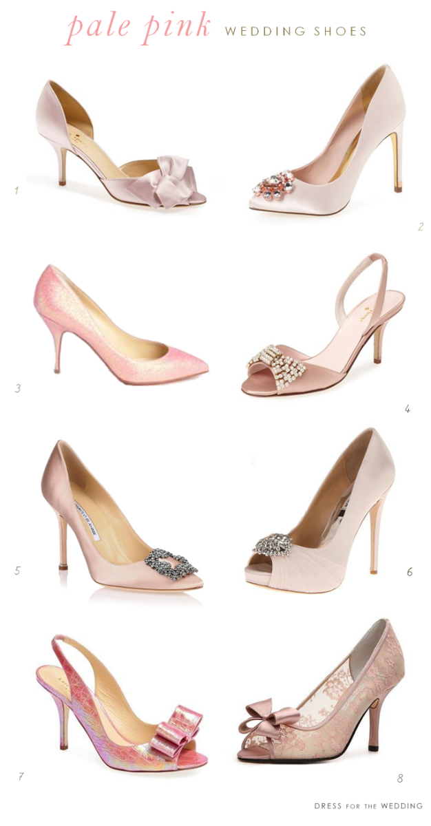 de2bdcfb7c3 Pale Pink Wedding Shoes | The Dress | Blush wedding shoes, Pink ...