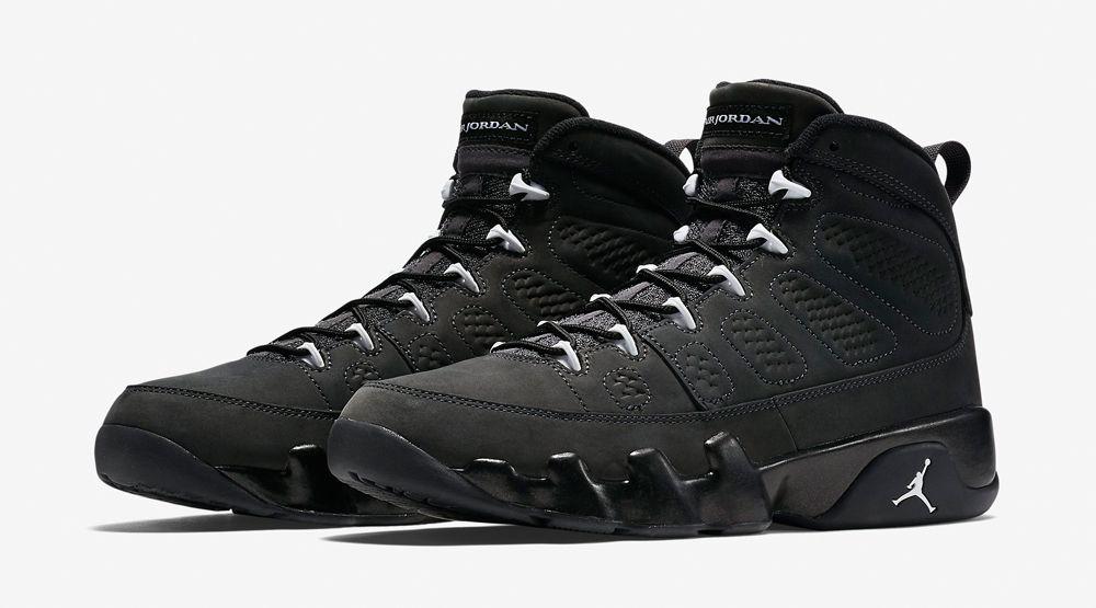 Air Jordan 9 Grey Black White