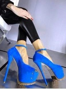 Royal blue sexy womens shoes