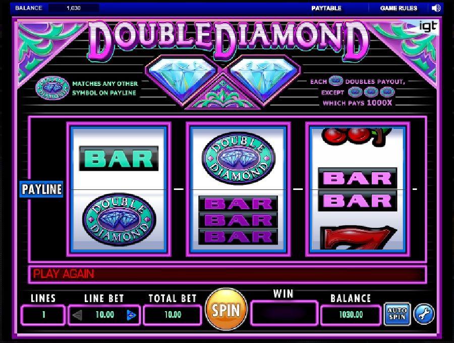 Hracie automaty Double Diamond - Hracie automaty Double Diamond sú klasickým automatom v štýle 60. rokov od spoločnosti IGT. #HracieAutomaty #VyherneAutomaty #Jackpot #Vyhra #Double #Diamond - http://www.automatove-hry-zadarmo.com/hry/hracie-automaty-double-diamond