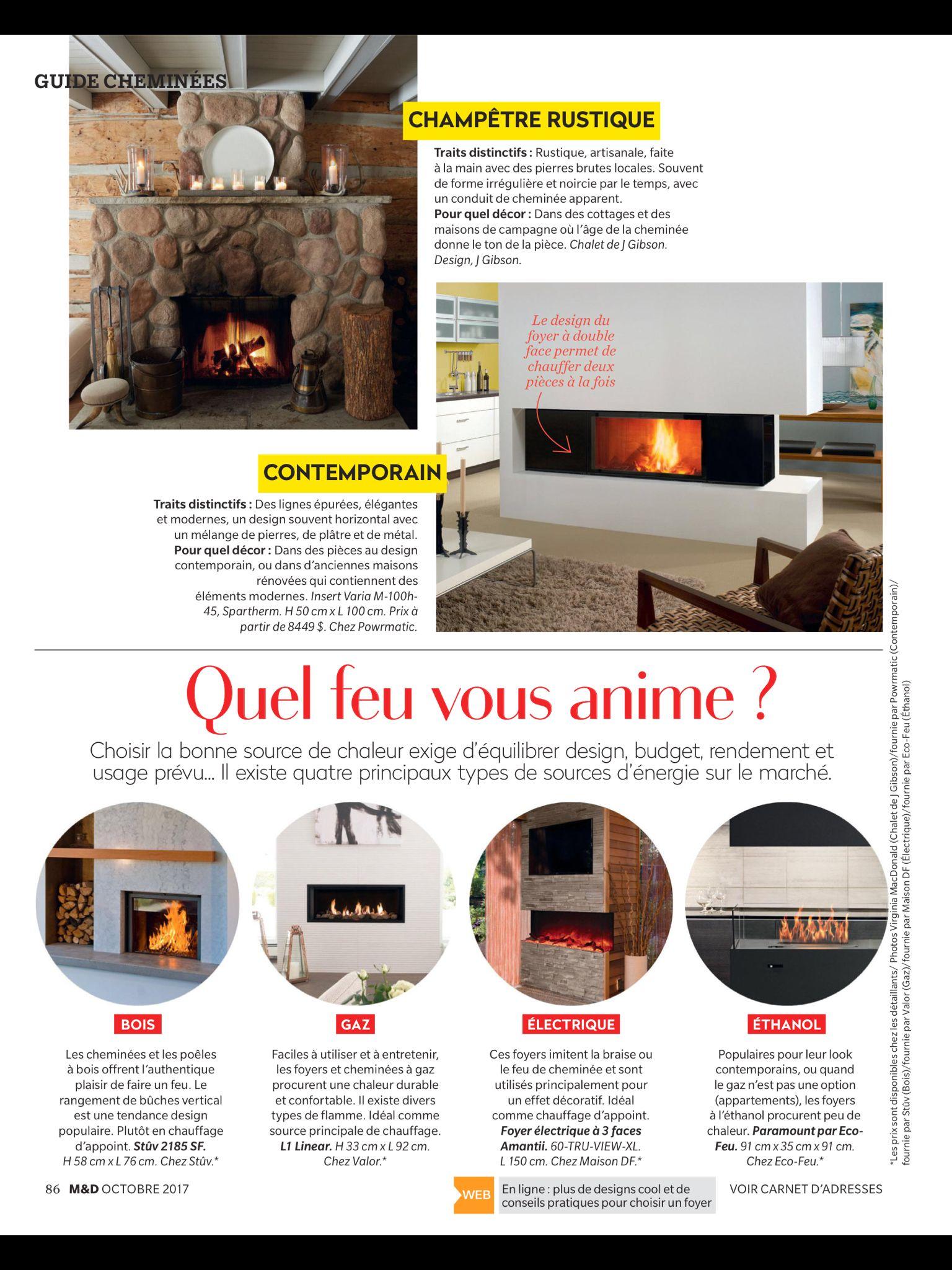 «Guide cheminées de M&D» de Maison & Demeure, Octobre 2017. Lisez-le sur l'appli Texture, qui vous donne accès à plus de 200 magazines de grande qualité.