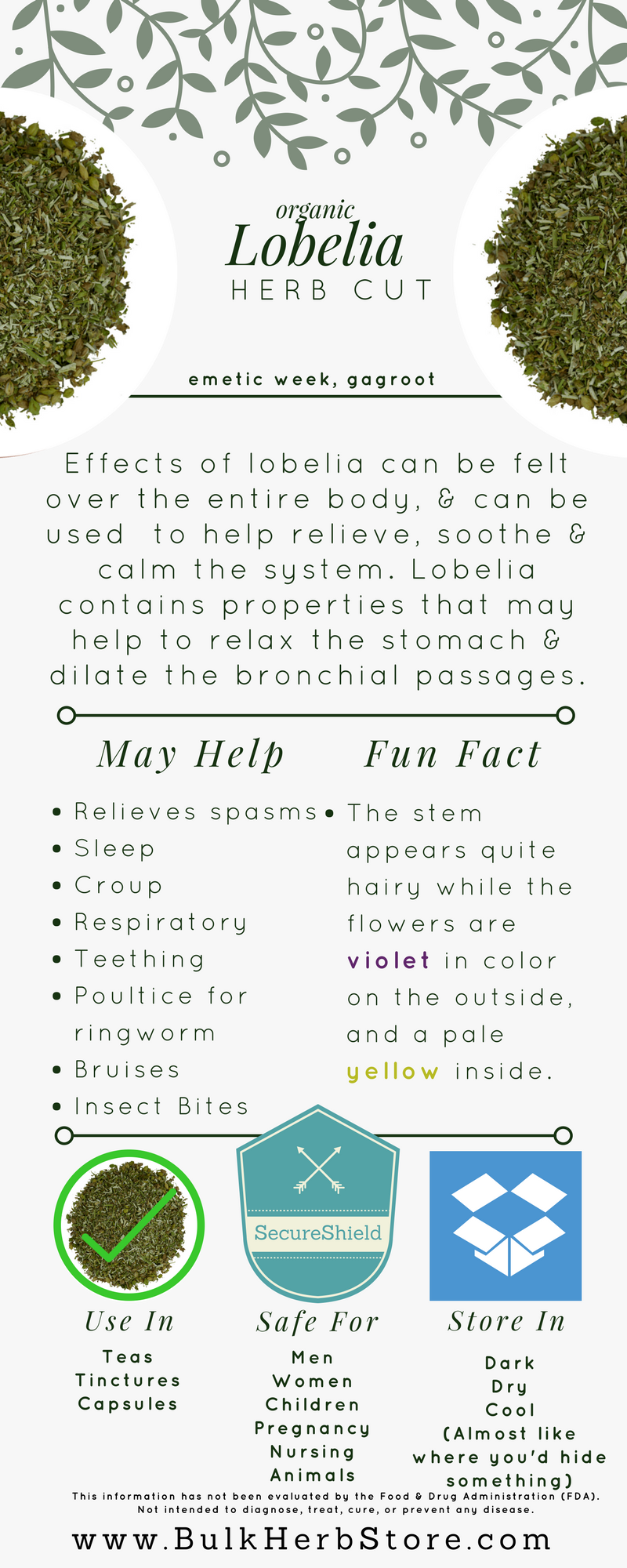 Lobelia Is One Of The Most Relaxing Herbs Known And Is Commonly
