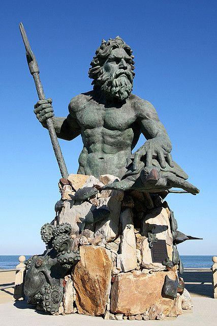 The King Neptune Statue Virginia Beach