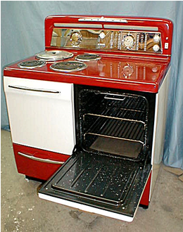 Electric Kitchen Stove 1947 gibson electric stove. | the key to happiness is a vintage