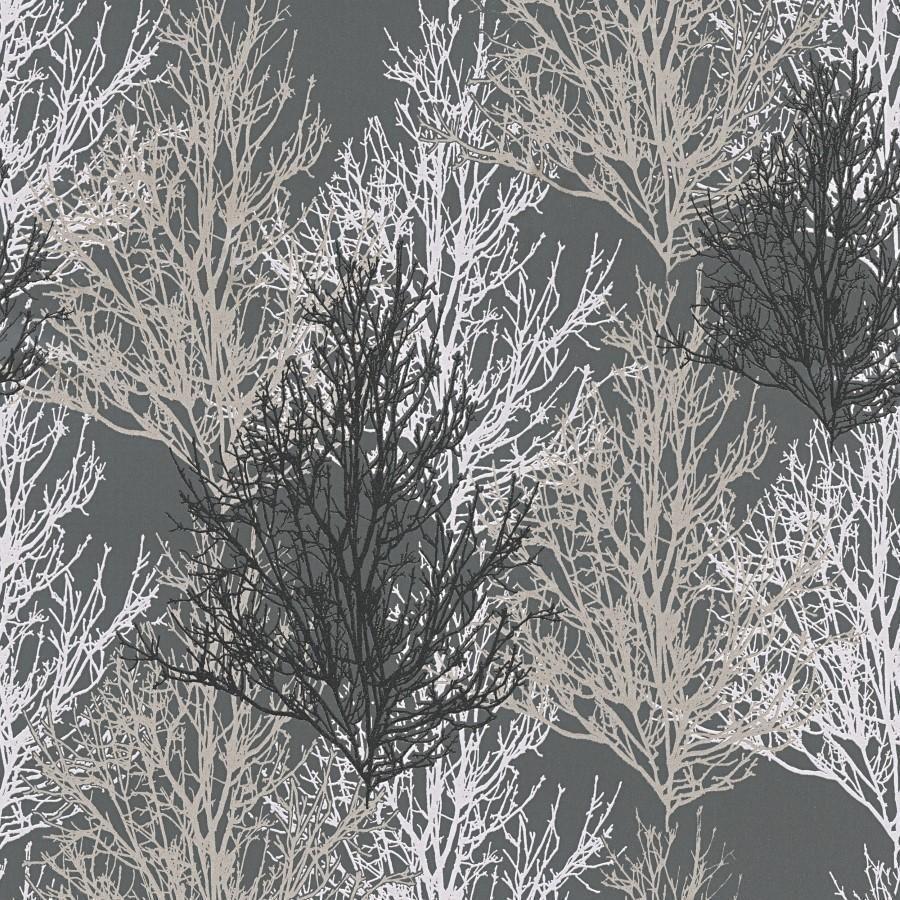 As Black Silver Trees Wallpaper Lancashire Wallpaper Paint Company Silver Tree Wallpaper Silver Glitter Wallpaper Black And Silver Wallpaper