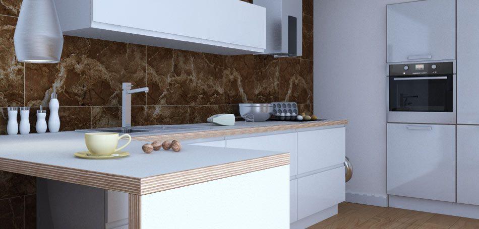 Arbeitsplatte aus Multiplex mit Schichtstoff-Oberfläche Project - küchen hängeschränke ikea