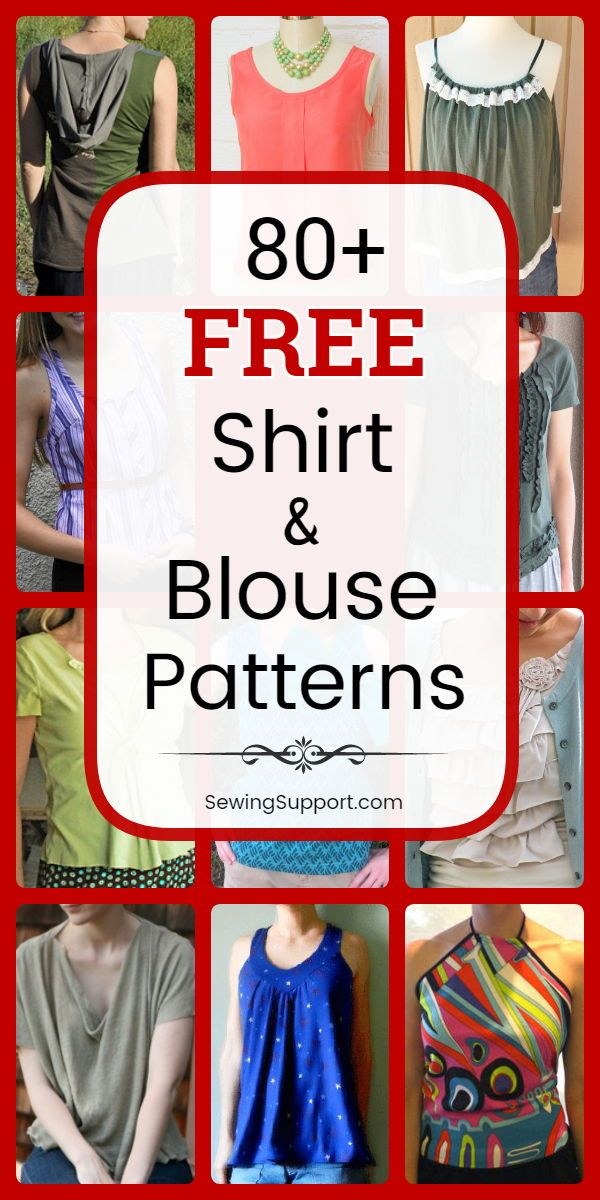 82 Free Shirt & Blouse Patterns