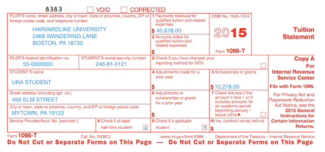 Understanding Your Forms 1098 T Tuition Statement Pinterest