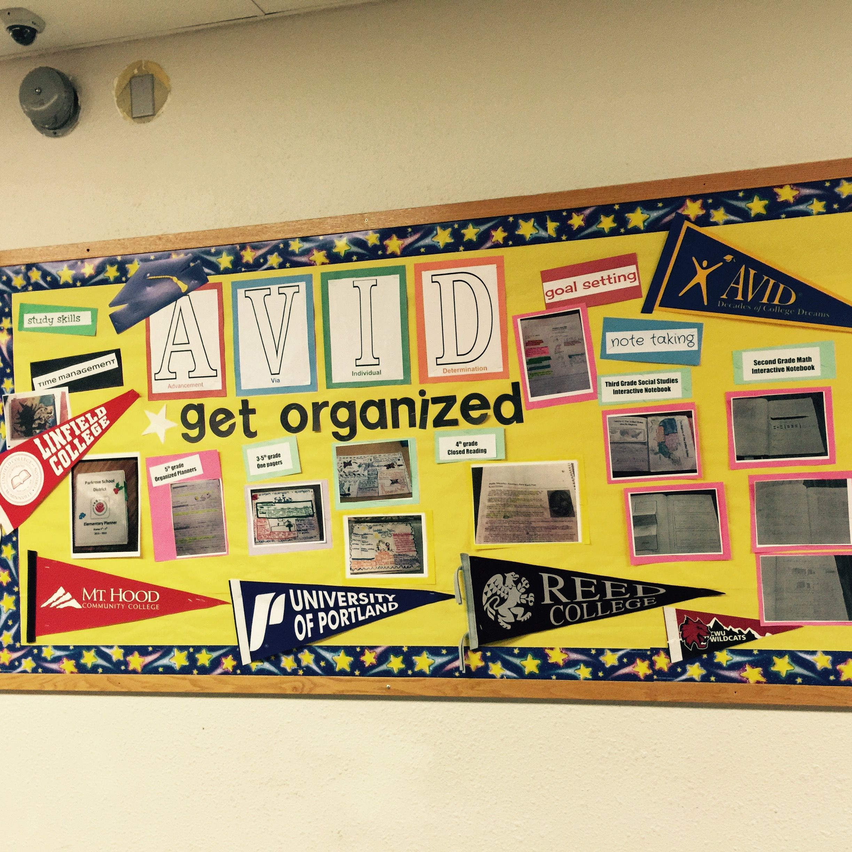 Avid Get Organized College Bulletin Board Ideas Avid Elementary