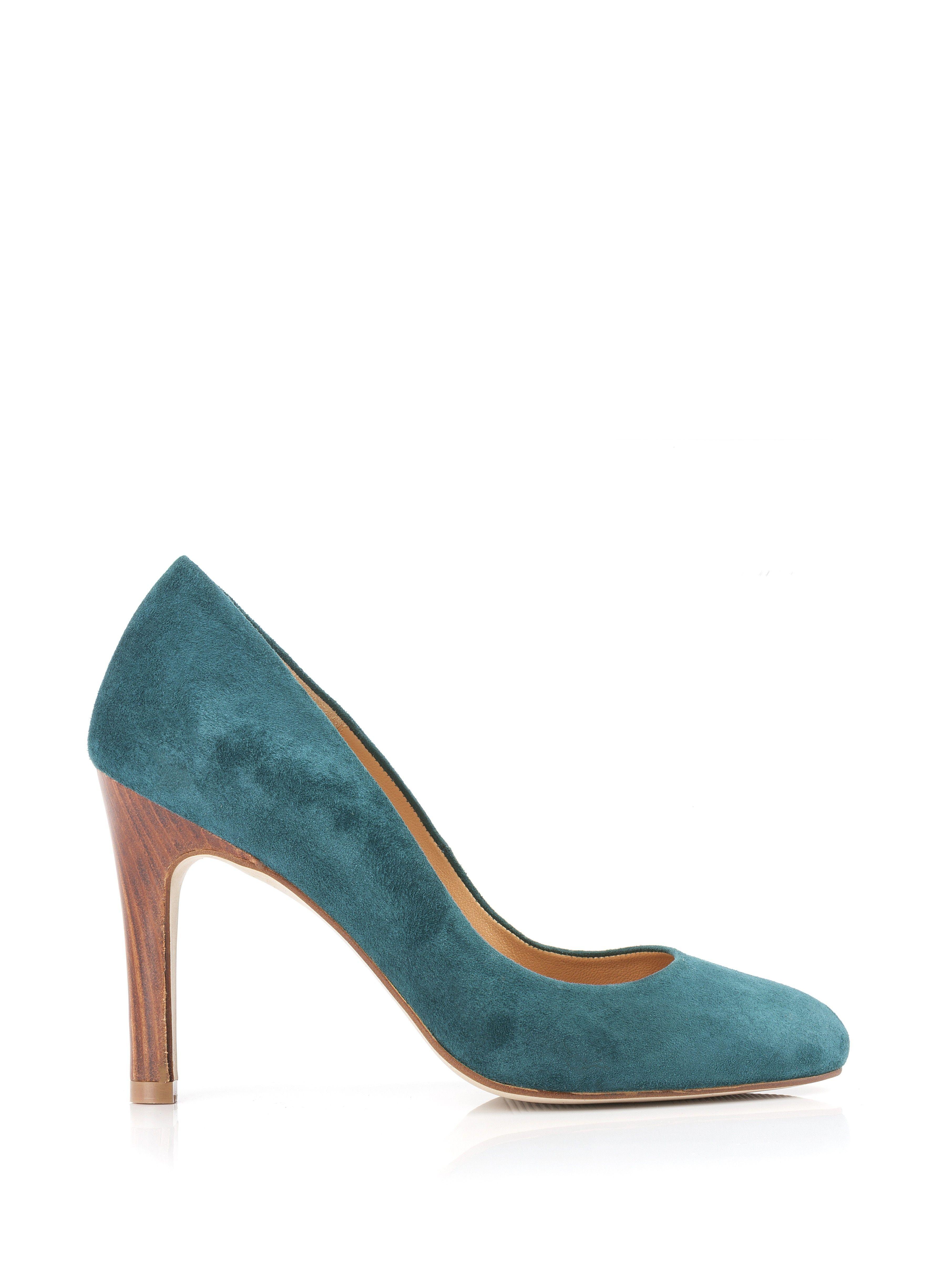 Escarpins HIGHEST HEEL sexy chic vernis bleu canard Teal Pat P. 40 7U6eJ