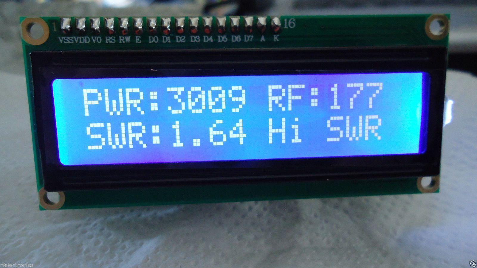 Swr Meter Technology T Electronic Schematics Diy Wideband Test Amplifier Circuit Diagram Tradeoficcom 3kw Power Bridge Digital Lcd 2x16 Blue Indicator Protection Ebay
