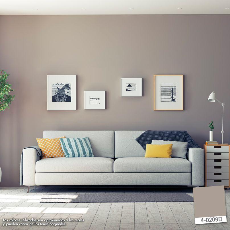 Crear una composición con cuadros es una manera original de decorar - colores calidos para salas