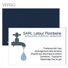 Carte De Visite Spciale Plombier Crer Avec Votre Logo Cartedevisite Business Card