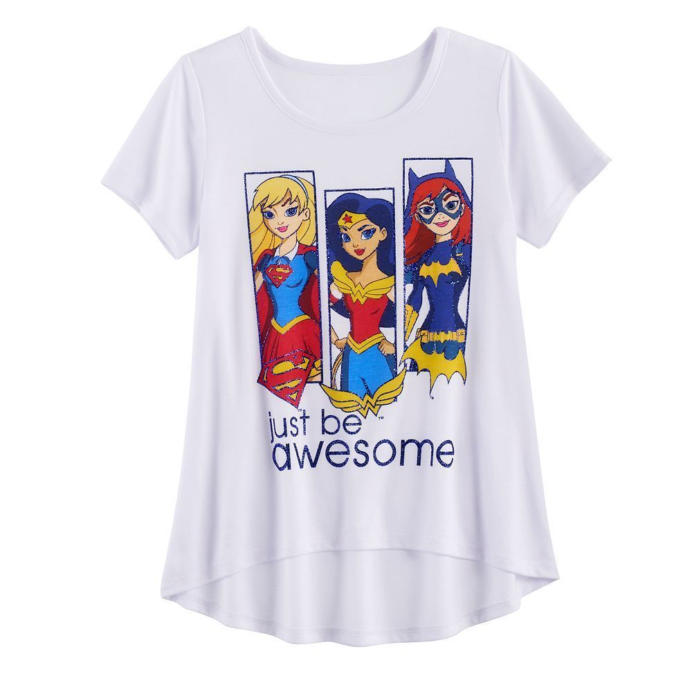 D C Comics Superhero Girls T-Shirt Size Large