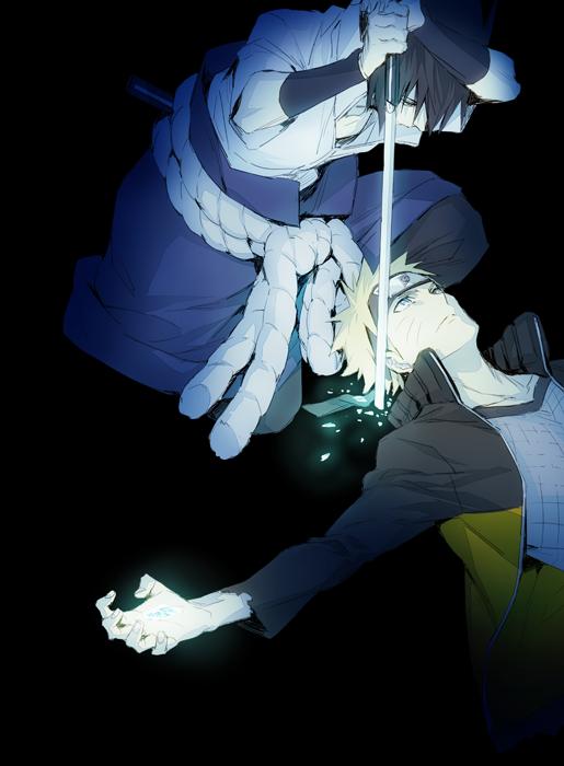 Sasuke and Naruto #naruto #sasuke
