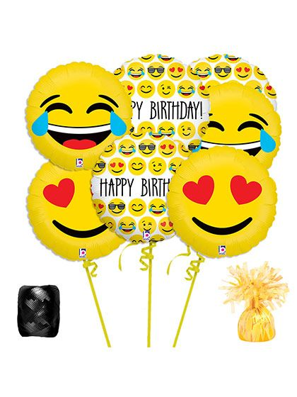 Shopping For Emoji Balloon Bouquet Kit Your Next Celebration Locate Birthday In A Box The Most Wanted And Party Accessories Low Prices