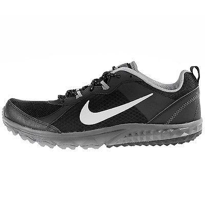 Nike Wild Trail Mens 642833 001 Black Grey Running Shoes