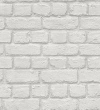 papel pintado juvenil muro de ladrillos gris claro