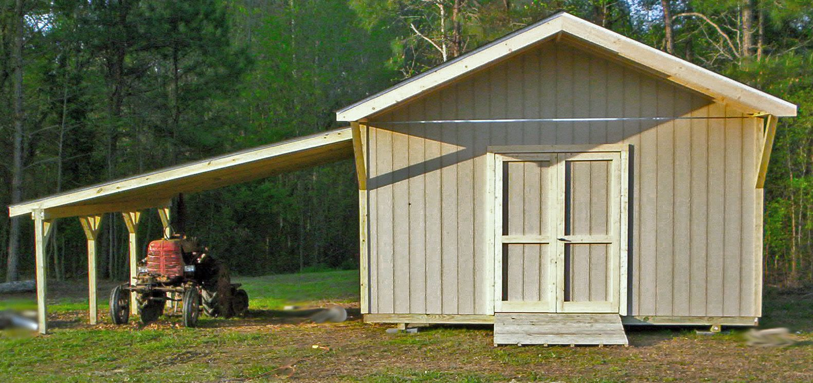 Garden Sheds Wooden storage shed with carport | cardinal buildings: storage buildings