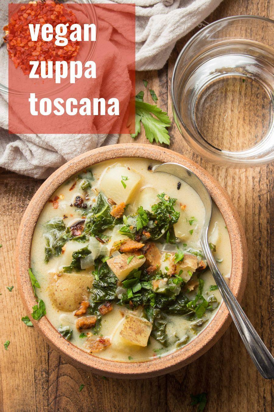 Vegan Zuppa Toscana Vegan Soup Recipes Toscana Recipe Whole Food Recipes