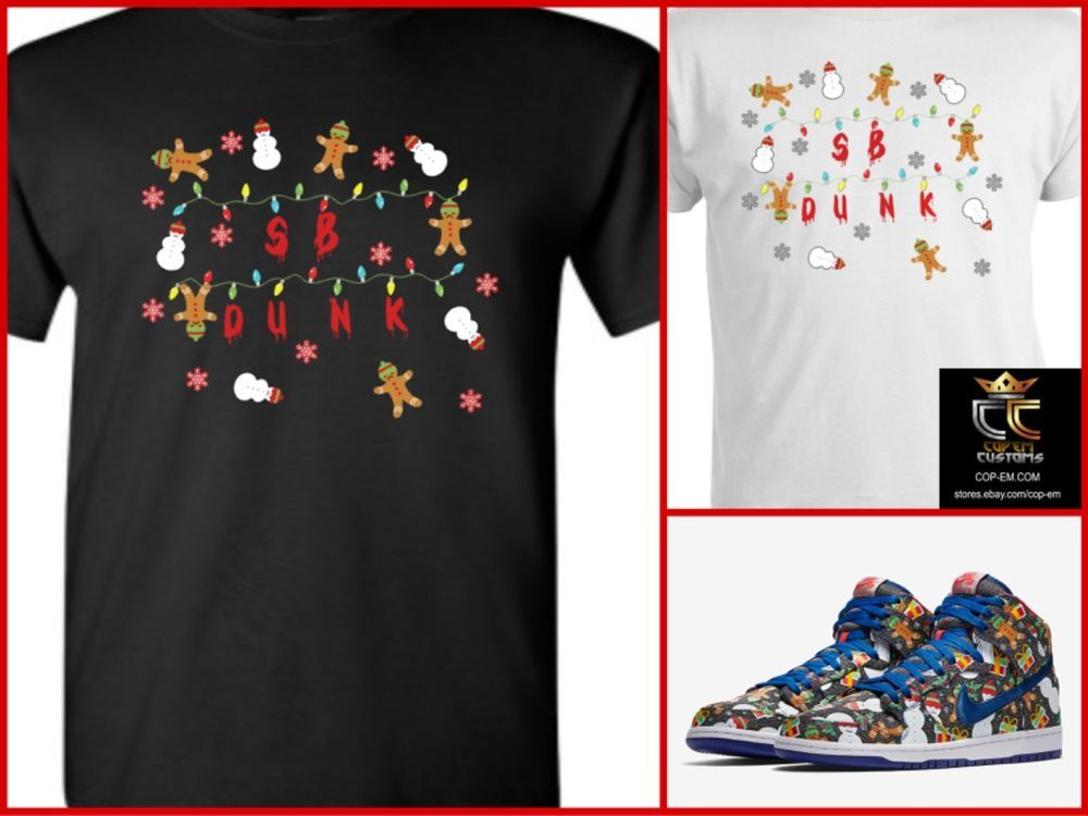 f1fac1a2 EXCLUSIVE TEE/T-SHIRT to match Concepts x NIKE SB Dunk Ugly Christmas  Sweater! #COPEMCUSTOMS #GraphicTee
