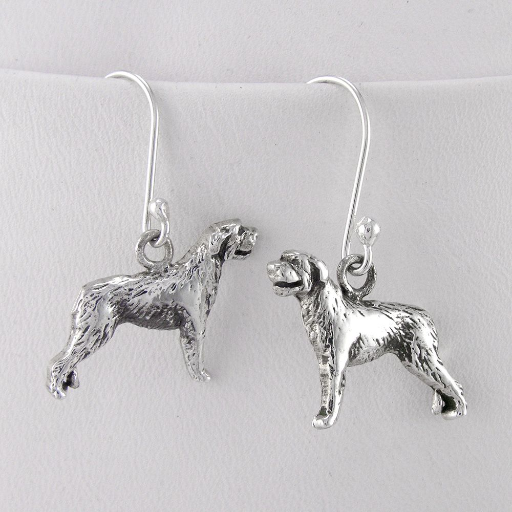 Irish Wolfhound Sterling Silver Earrings