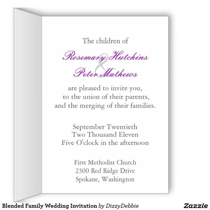 Blended Family Wedding Addressing Wedding Invitations Family Wedding