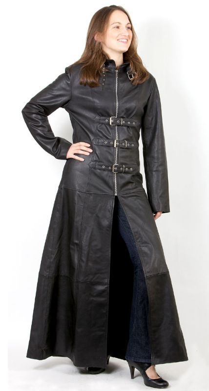 Full length leather trench coat for Women | Fashion Join | Leather ...
