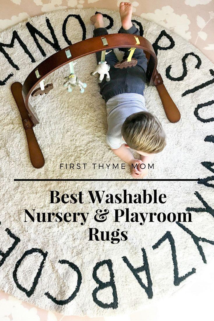 Cutest Washable Nursery and Playroom Rugs