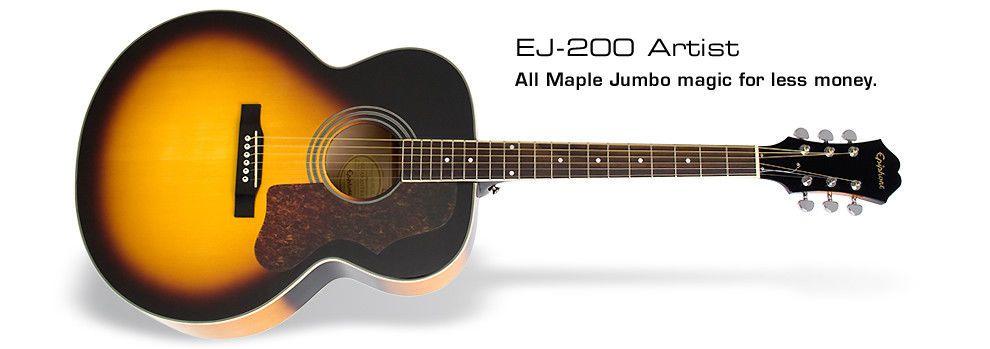 Epiphone ej200 artist acoustic guitar vintage sunburst