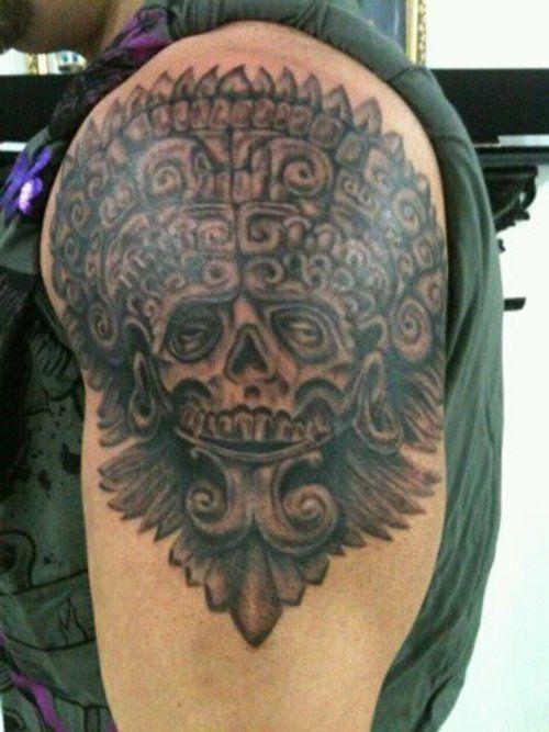 mayan warrior tattoo full and half sleeve tattoos pinterest skulls warrior tattoos and. Black Bedroom Furniture Sets. Home Design Ideas