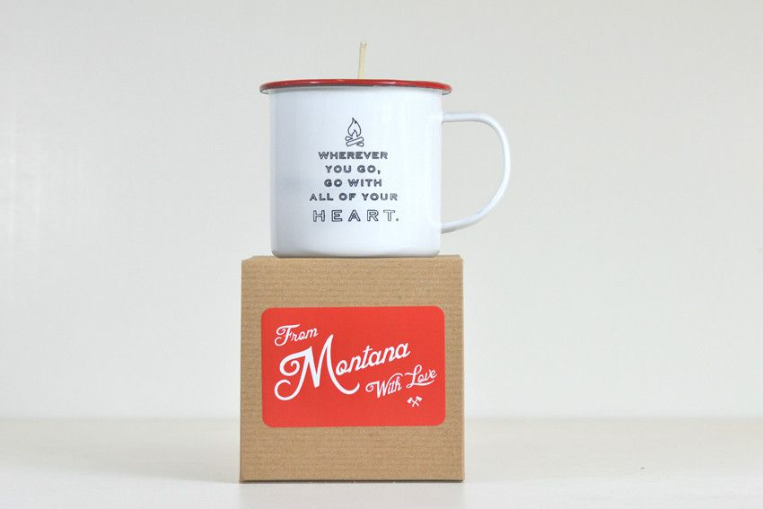 Wherever you go, go with all of your heart. Enjoy an amazingly fragrant, lilac scented, soy wax candle poured into one of our famous enamel mugs. This candle has a 45 hour burn time and when the candle is finished the enamelware mug can be cleaned out and used for many years to come! This is a lovely and thoughtful two-phased gift that will last a lifetime and will remind the recipient to live life to the fullest.