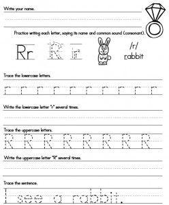 handwriting worksheets preschool kindergarten