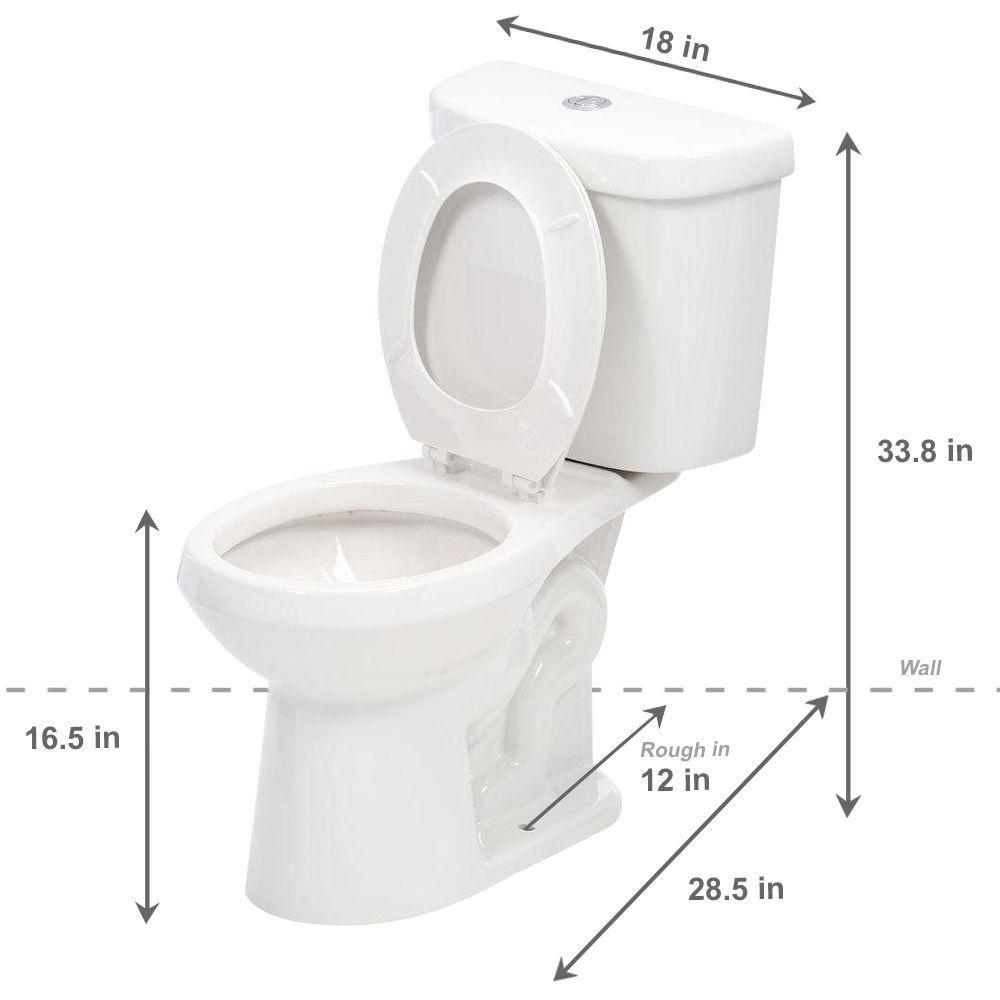 Glacier Bay 2 Piece 1 1 Gpf 1 6 Gpf Dual Flush Round Toilet In