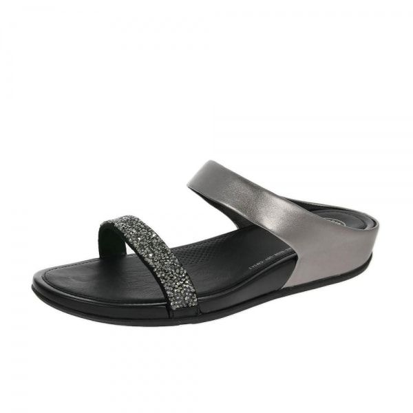 81c0cb4388569f FitFlop™ Banda™ Roxy Slide Sandals Pewter