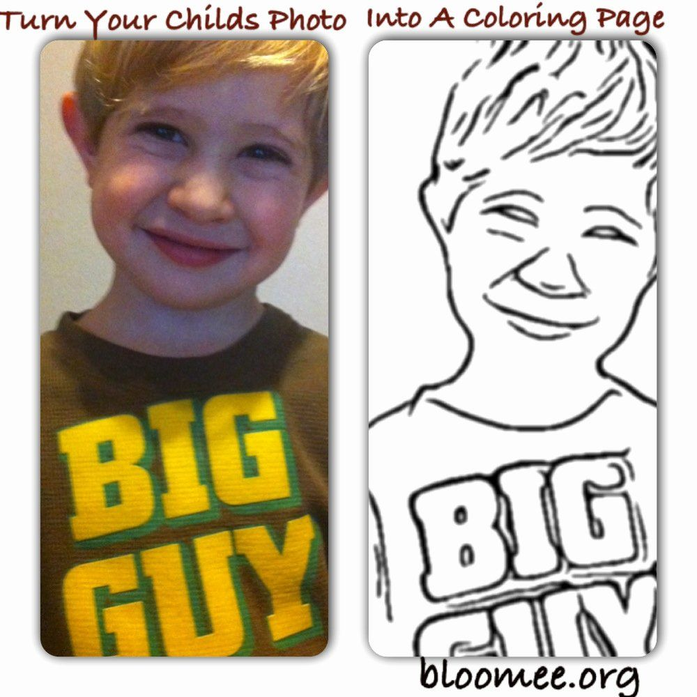 Turn Photo Into Coloring Page Free Online Elegant Turn Your Childs Into A Coloring Page In 2020 Coloring Pages Coloring Pages Inspirational Coloring Pages For Boys