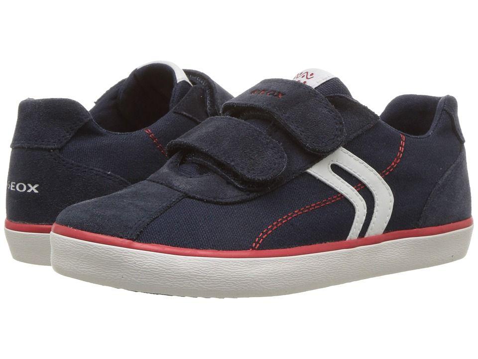 Geox Kids Kilwi 12 (Little Kid) Boy's Shoes NavyRed | Boys