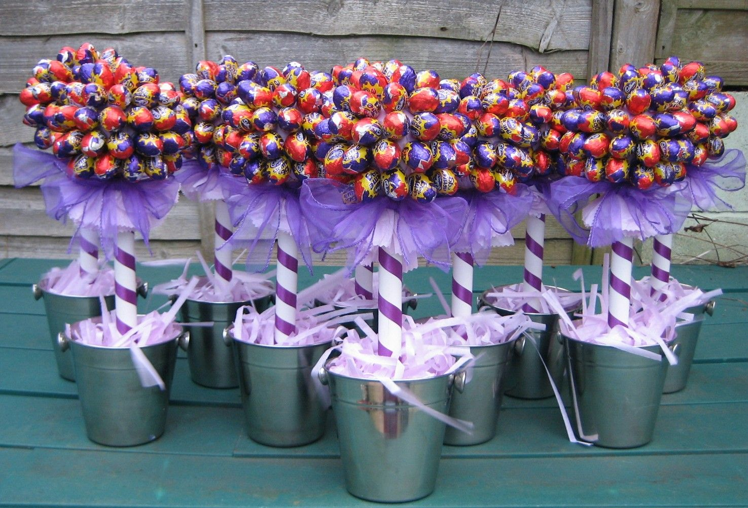 This years most popular colour for weddings, cadbury's purple.find us on facebook  sussex sweet trees