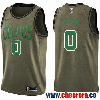 adb532f7636 Men s Nike Boston Celtics  0 Jayson Tatum Green Salute to Service NBA  Swingman Jersey