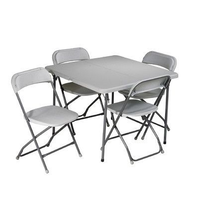 Office Star Products 5 Piece 36 Square Folding Table Card Table Chairs Folding Chair Table Chairs