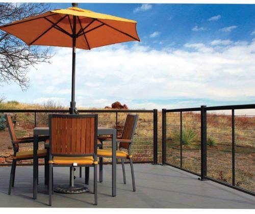 Best 12 Aluminum Railing Cablerail At Menards Deck Skirting 640 x 480