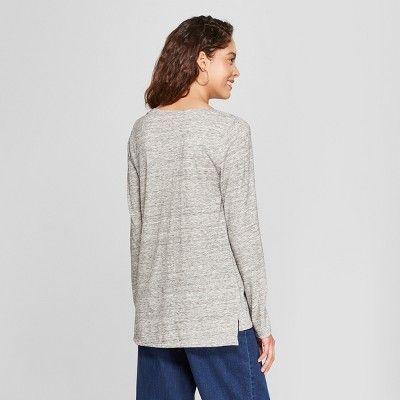 "ee04dac882a Women s Long Sleeve Vintage V-Neck T-Shirt - A New Dayâ"" 20White XS  Sleeve"